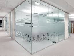office glass frosting designs define open space without