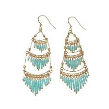 chandelier earrings jo le make an entrance beaded tiered chandelier earrings