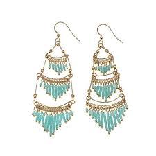 chandelier earrings jo le make an entrance beaded tiered chandelier earrings