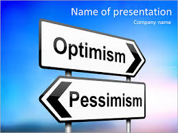 optimism vs pessimism powerpoint template u0026 backgrounds id