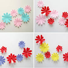 Flowers Home Decoration by Best Birthday Gift Diy 3d Flowers Wall Sticker Wholesale Diy Home