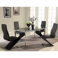 Black Glass Extending Dining Table Chintaly Tara Extendable Glass Dining Table Hayneedle