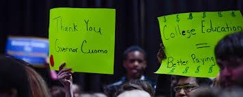 governor cuomo kicks off excelsior scholarship campaign to make
