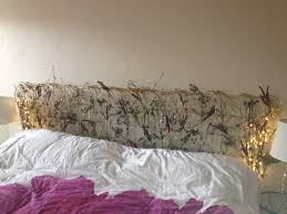 lighted king size headboard homemade headboard wire mesh screen spray painted gold with silk