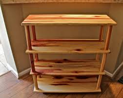 Rustic Book Shelves by Wooden Bookshelf Rustic Wood Shelves Solid Wood Bookcase