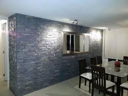 naturstein wohnzimmer innenarchitektur kühles naturstein wandverkleidung wohnzimmer