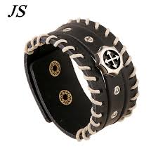 christian bracelet js mens christian bracelets bangles cool wide black leather