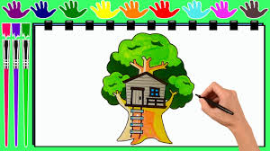 coloring pages treehouse drawing pages to color for kids by