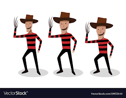 freddy krueger costume in freddy krueger costume in design royalty free vector