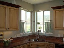 Kitchen Window Curtains by Cafe Curtains For Kitchen Bay Window Curtain Rods Kitchen Bay