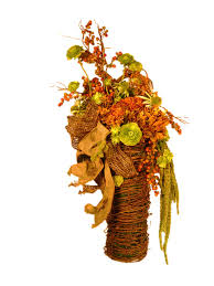 Silk Flowers Arrangements - rustic silk floral door or wall decoration rustic artificial
