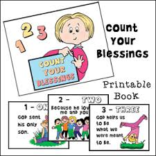 count your blessing printable book for children from www
