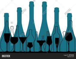 background bottle vector alcoholic bar menu design for party card