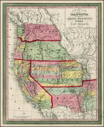a new map of the state of california the territories of oregon