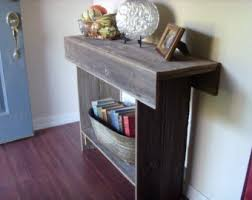 Entryway Console Table With Storage Large Console Wood Table Large Entry Table Recycled