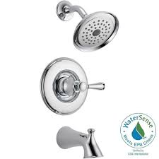 new chrome finish 2 handle delta windemere bathroom sink delta silverton single handle 1 spray tub and shower faucet in