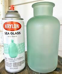 sea glass bathroom ideas seaglass spray craft ideas frosted glass spray