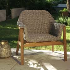 gray wicker and wood taormina armchair world market