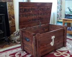 How To Make A Wood Toy Chest by Custom Toy Box Blanket Chest Monogram