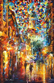 the confetti of the city u2014 palette knife modern art oil painting