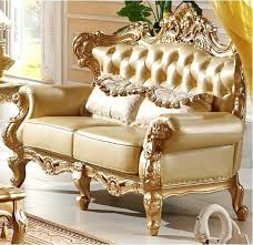 Luxury Leather Sofa Sets Classic Italian Furniture Living Room Classic Style Luxury Leather