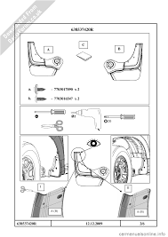 dacia duster 2010 1 g mudflap fitting guide workshop manual