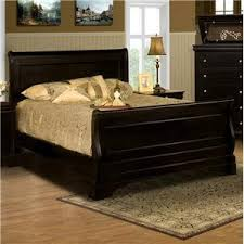 cherry sleigh bed amazon com belle rose black cherry sleigh bed queen kitchen