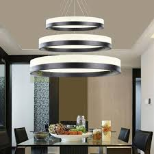 Dining Room Hanging Lights 3 Rings Pendant Light Circles Chandelier Dining Room Ceiling L