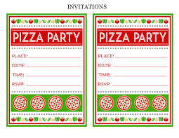 pizza party invitations marialonghi com