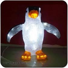 2017 new design acrylic led light stand light up penguin led