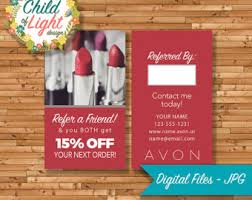 Clear Business Cards Vistaprint Avon Business Cards Etsy