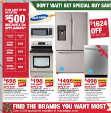 black friday leak home depot home depot appliance sale samsung appliances pinterest
