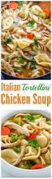 italian chicken tortellini soup baker by nature