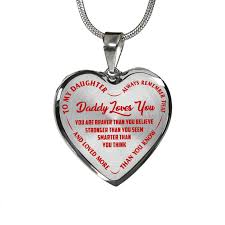 heart necklace red images To my daughter daddy loves you silver finished heart necklace png
