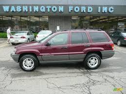 purple jeep cherokee 2002 dark garnet red pearlcoat jeep grand cherokee laredo 4x4