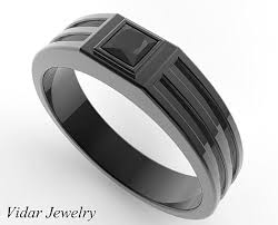 black diamond wedding band black gold princess cut black diamond wedding band for mens