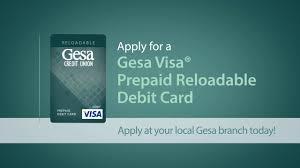 reloadable debit card gesa visa prepaid reloadable debit card on vimeo