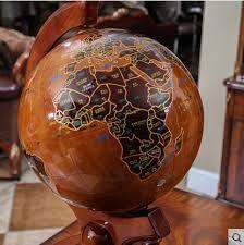 shop large desk solid oak wood big globe crafts tellurions