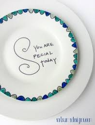 plate you are special birthday plates must make or buy one to start a new tradition in