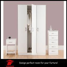 china simple white cheap closet bedroom wooden wardrobe inside
