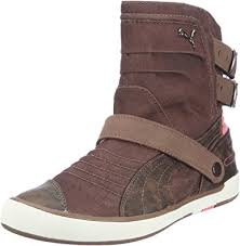 s boots amazon uk moto canvas wn s boots womens brown braun shitake