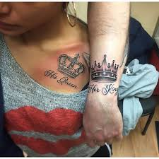 50 king and queen tattoos for couples cuple pinterest queen