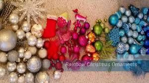 rainbow ornaments