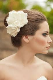 flowers for hair bridal hair flowers in silk white for bridal headpieces