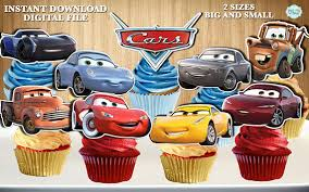 cars cake toppers disney cars cupcake toppers disney cars 3 cupcake toppers