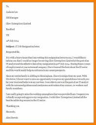 9 resignation letter sample sample letters wordprofessional
