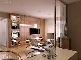 living room wood interior walls grey shade pendant lighting blue