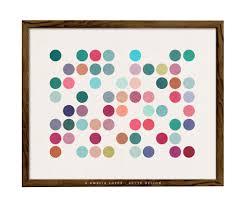 dots 1 dots print dots poster retro wall art geometric art