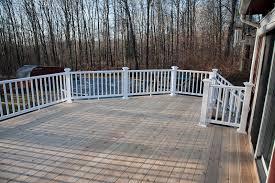 cedar deck built with a composite railing mansfield ct deck builder
