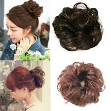 bun scrunchie hair bun curly wave scrunchie synthetic wig chignon hair